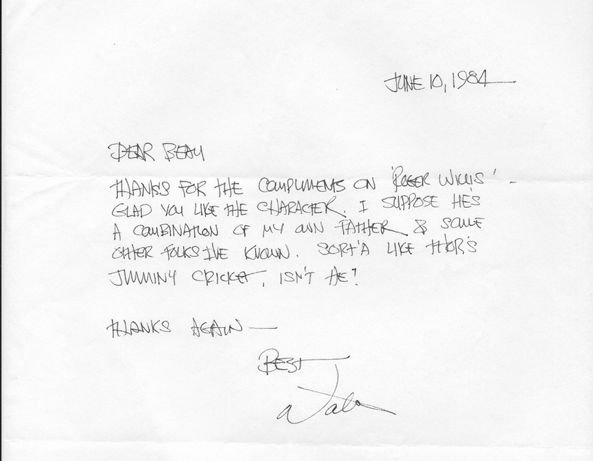 A letter from Walter Simonson