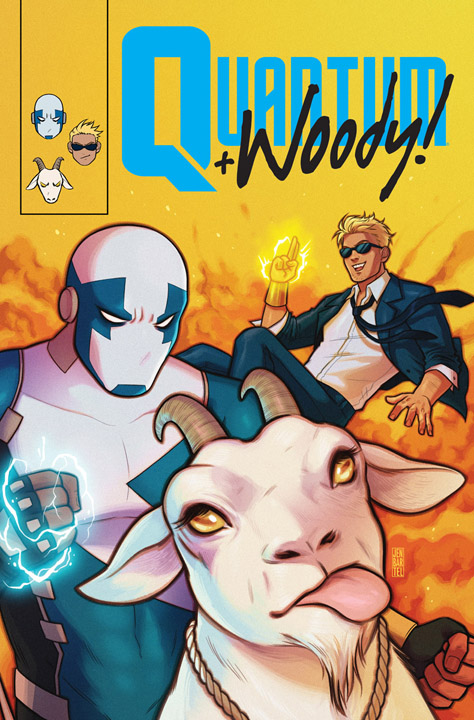 Quantum and Woody #8 Q&W Icon Variant Cover by Jen Bartel