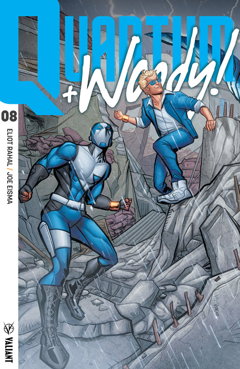 Quantum and Woody #8 Interlocking Variant Cover by Joe Eisma