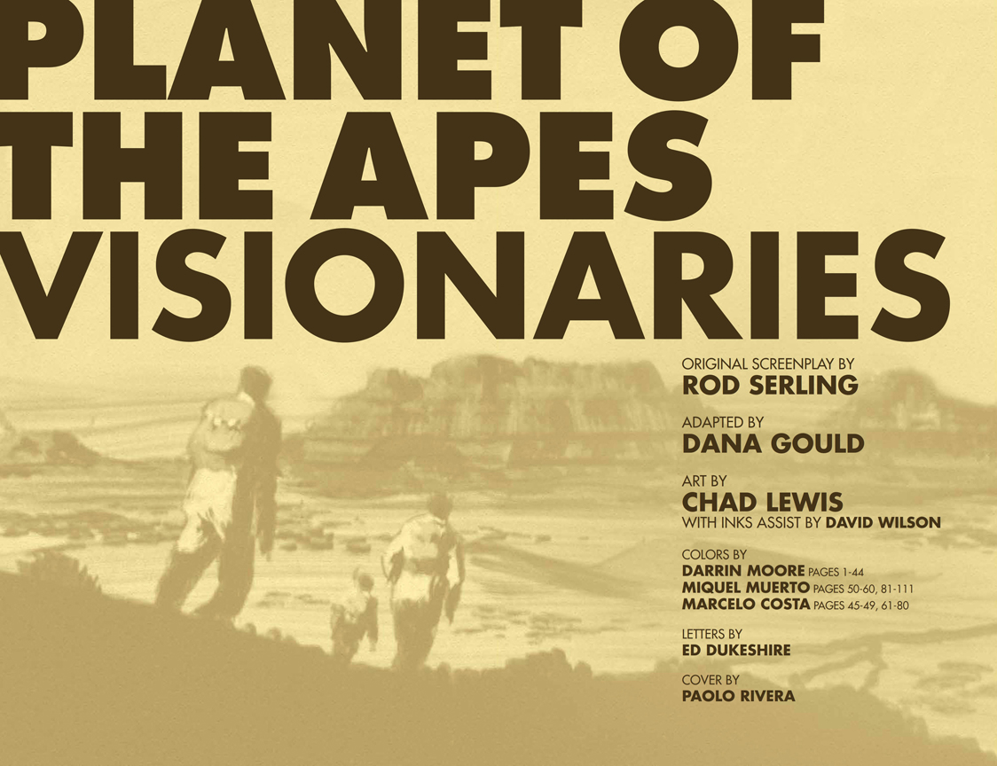Planet of the Apes: Visionaries preview page 1