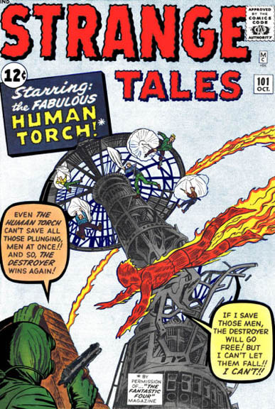 The adventures begin in Strange Tales #101