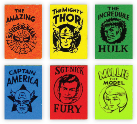 The Marvel Mini Book Covers