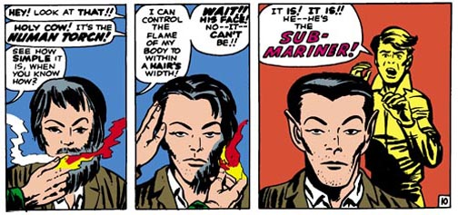 The Sub-Marianer Gets All Metrosexual Courtesy of The Human Torch.