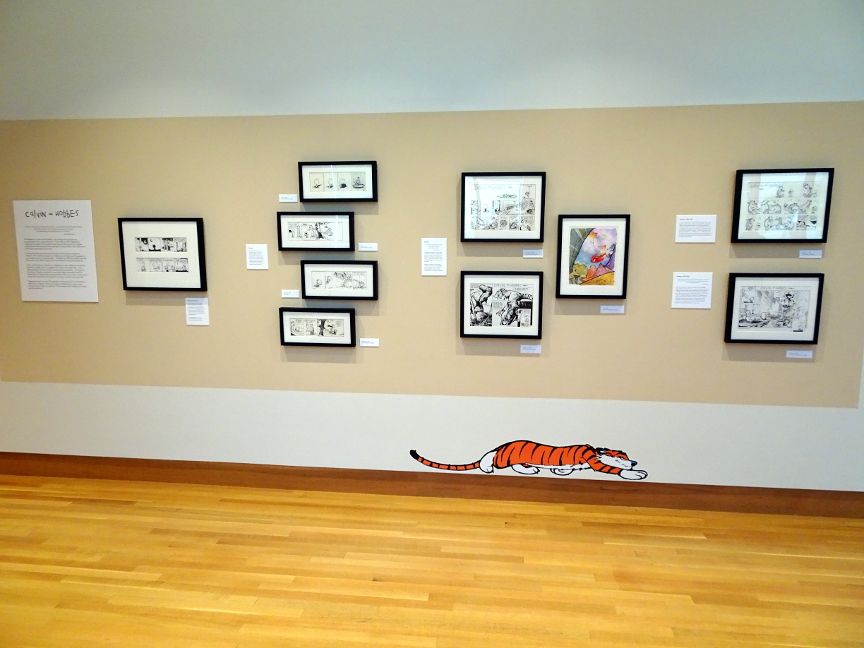 The wall of Calvin and Hobbes art