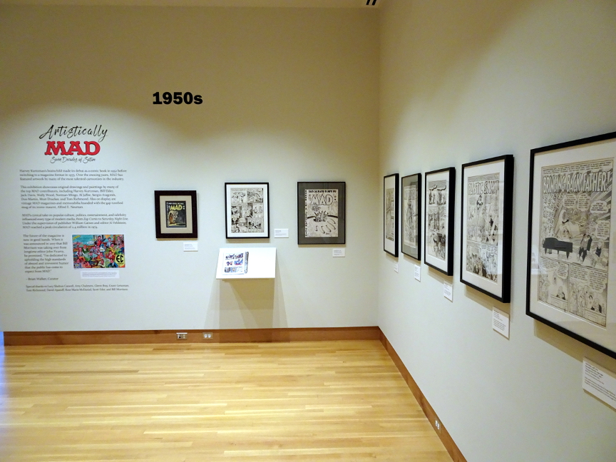 The beginning of the Mad exhibit