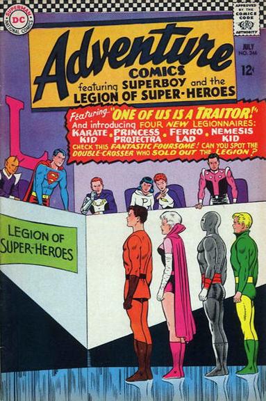 Adventure Comics #346, Jim Shooter joins the Legion