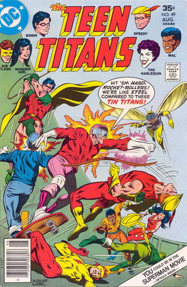 Teen Titans #49, the first time Bumblebee appeared on a cover