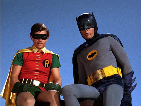 You Wear It Well. A Little Old Fashioned, But That's Alright. Batman and Robin, Burt Ward and Adam West 1966 Batman TV Series.
