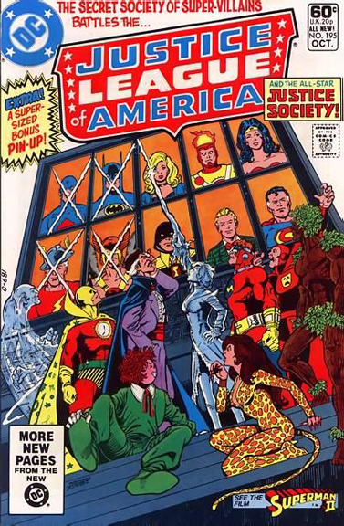 Justice League of America #195, the first part of a JLA/JSA adventure
