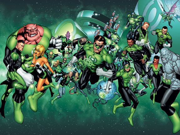 We're Green Lanterns! And we don't even know all of our names either.