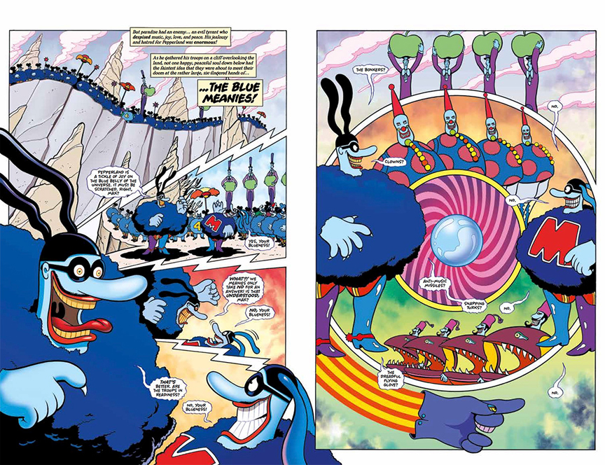 Meet the baddies, The Blue Meanies, in The Beatles: The Yellow Submarine.