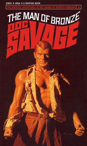Doc Savage: Man Of Bronze Bantam Books Cover By James Bama