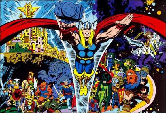 Thor Ragnarok Jack Kirby Style.