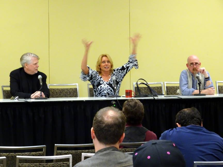 The Noir Comics panel with John K. Snyder III, Christy Blanch, and Brian Azzarello.