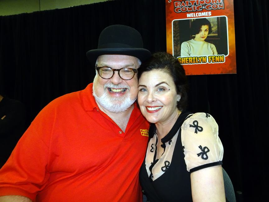 Your friendly author with Sherilyn Fenn