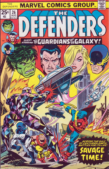The Defenders team up with the original Guardians of the Galaxy in issue #26