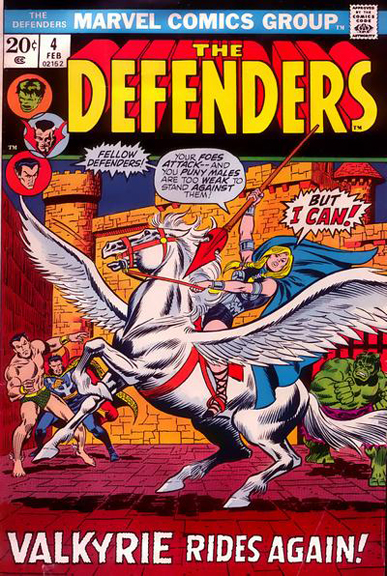 Defenders #4 featuring Valkyrie