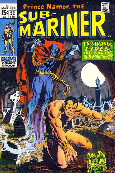 "Sub-Mariner #22, part of an ""unofficial"" Defenders story."