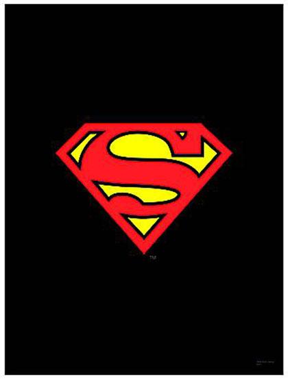 Dc Heroes Wall Scroll Superman Logo Black Westfield